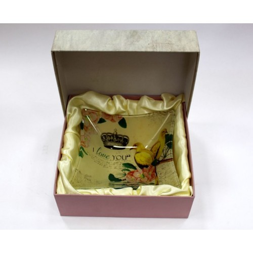 Тарелка в подарочной коробке 14,5х14,5см