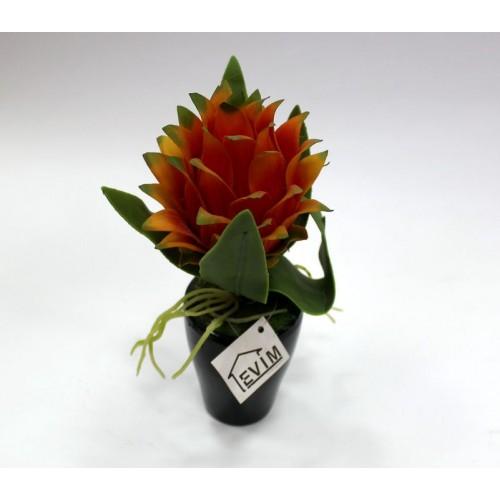 Декор цветы в горшке