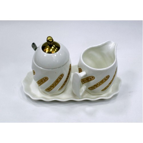 Набор сахарница и молочник/золот