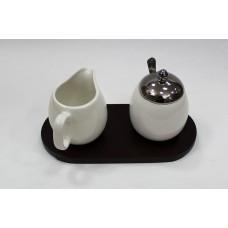 Набор молочник+ сахарница на подставке