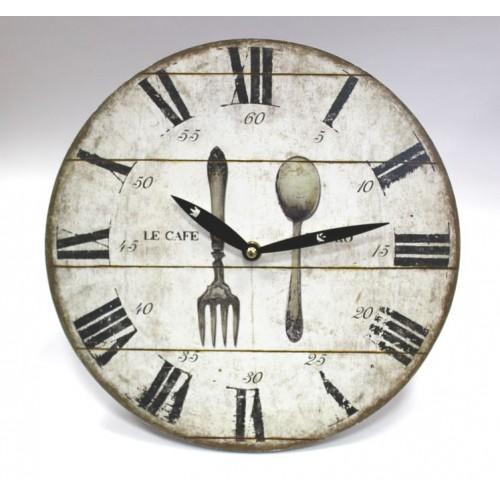 Настенные часы 28.8Cм/вилка+ложка