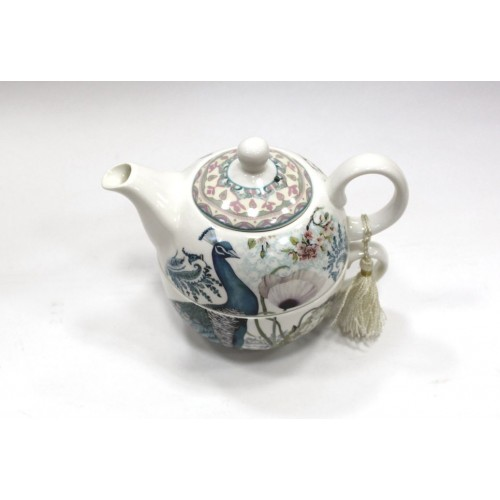 Подарочный набор чайник+пиала 14X14X14.6 см/павлин