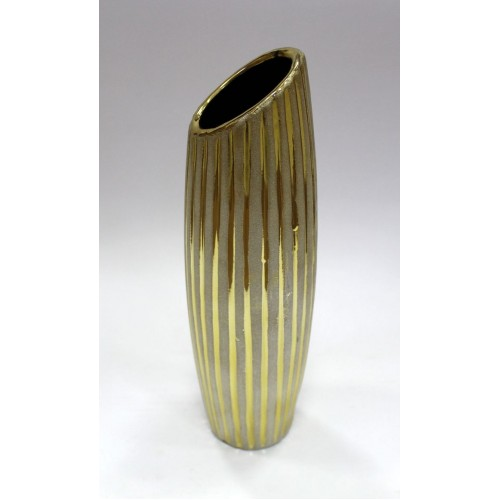 Декор ваза/8.5*8.5*30см/золот.