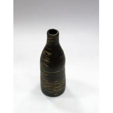 Ваза керамичесская 6,4х6,4х17,5 см/черная