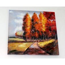 Картина на холсте 100х100х3 см/осень