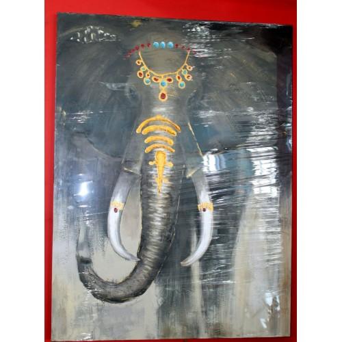 Картина написанная масл.90X120X2.8см/слон