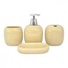 Ванные аксессуары 4пр.керамика/кремовый