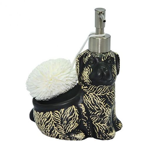 Дозатор для жидк.мыла со спонжем в форме собачки