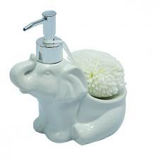 Дозатор для жидк.мыла со спонжем в форме слоника